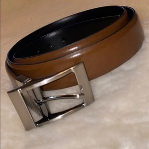 Genuine Leather Tan black Men's belt